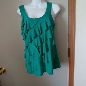 Cato Brand Green Blouse Size Small